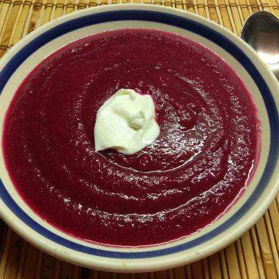 Крем-суп из свеклы и картофеля - рецепт с фото