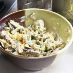 Мясной салат «Обжорка» со свининой и солеными огурчиками