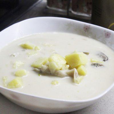 Сырный суп с грибами - рецепт с фото