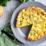 Картофельная фриттата с яйцами и сыром (запеканка)