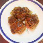Перец болгарский, фаршированный картошкой и лесными грибами
