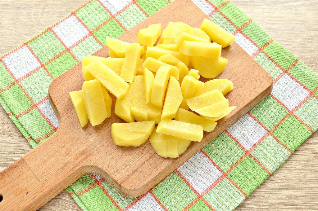 Фото рецепта - Суп на курином бульоне из готовой овощной солянки - шаг 2