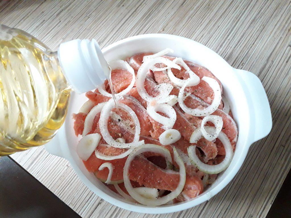 Фото рецепта - Соленая красная рыба - шаг 5