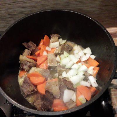 Фото рецепта - Рис с мясом и овощами - шаг 3