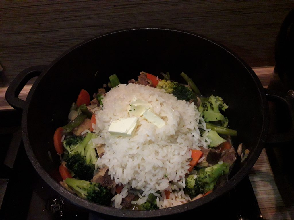 Фото рецепта - Рис с мясом и овощами - шаг 7