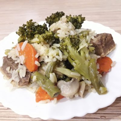 Фото рецепта - Рис с мясом и овощами - шаг 8