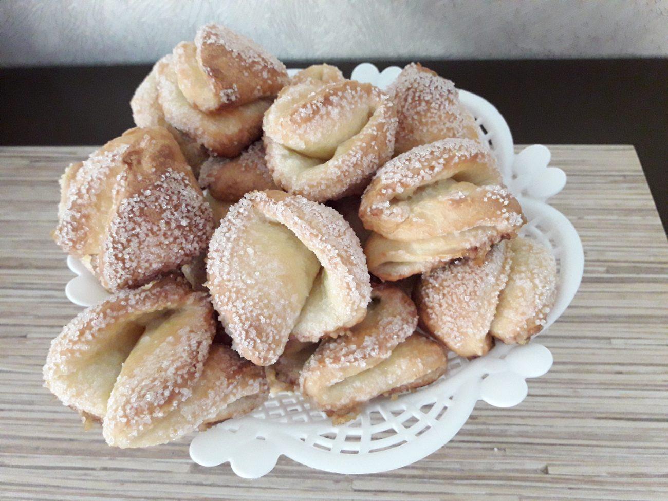 Печенье творожное «Поплавки» (треугольники)