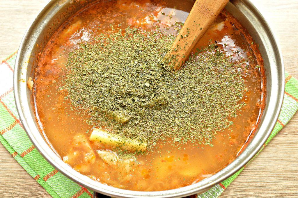 Фото рецепта - Суп на курином бульоне из готовой овощной солянки - шаг 5
