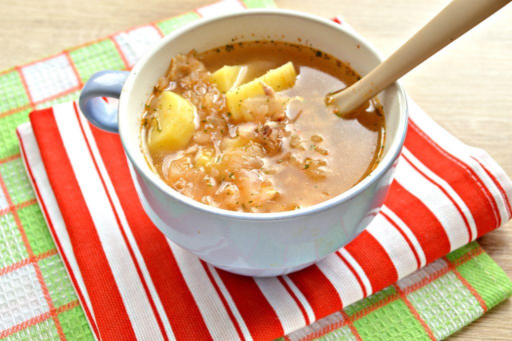 Фото рецепта - Суп на курином бульоне из готовой овощной солянки - шаг 6