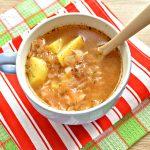 Суп на курином бульоне из готовой овощной солянки