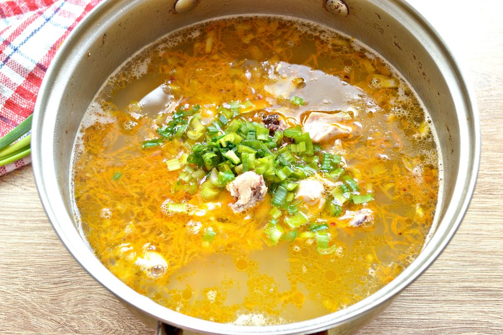 Фото рецепта - Куриный суп с макаронами без картофеля - шаг 7