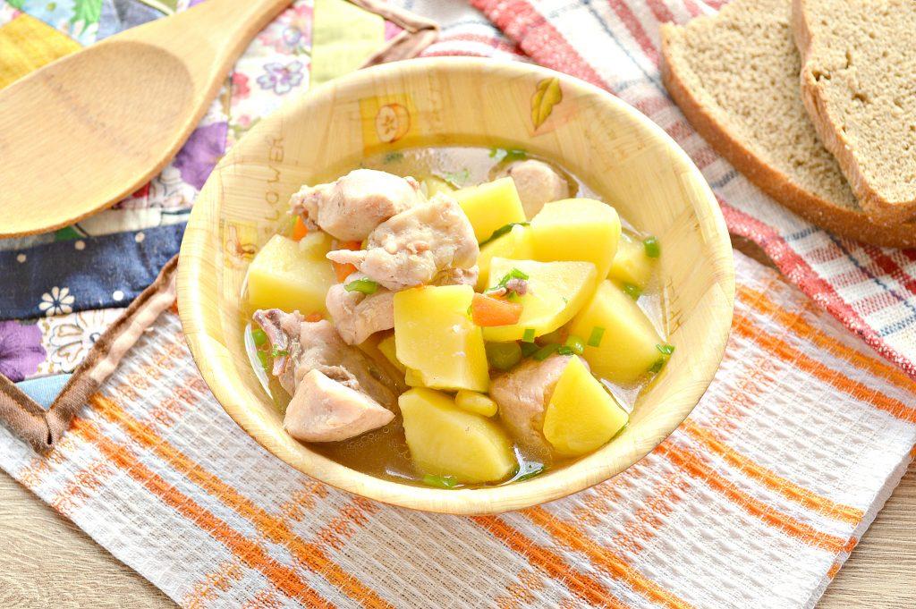 Фото рецепта - Курица кусочками с овощами и картофелем - шаг 8