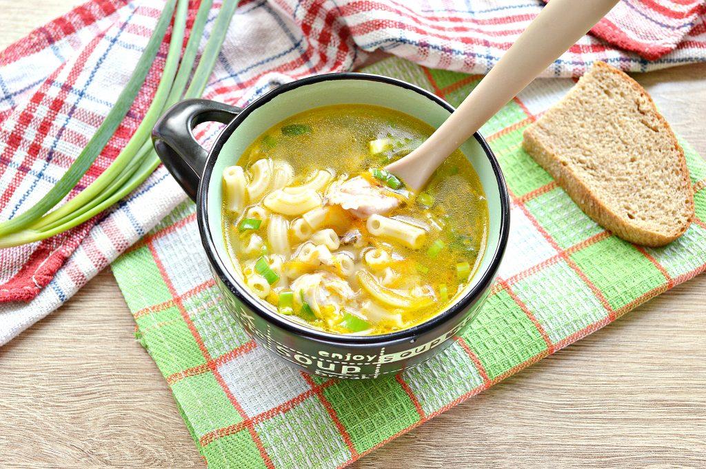 Фото рецепта - Куриный суп с макаронами без картофеля - шаг 8