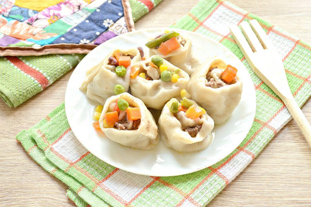 Фото рецепта - Ленивые пельмени с овощами и фаршем - шаг 8