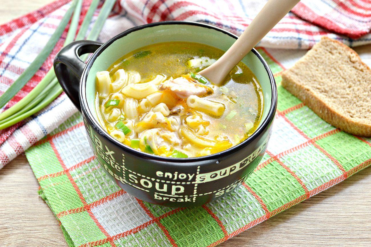 Куриный суп с макаронами без картофеля
