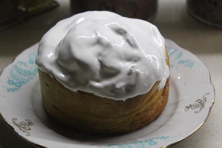 Фото рецепта - Кулич-краффин с сухофруктами и цукатами - шаг 13