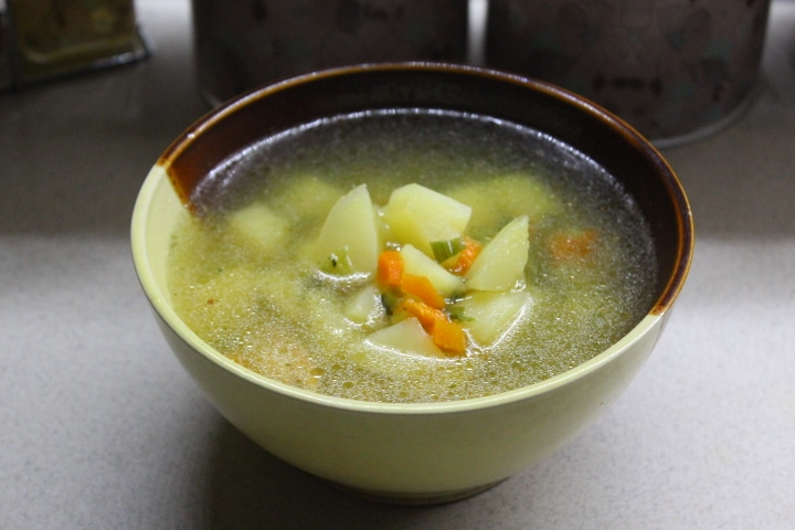 Фото рецепта - Чесночный суп с курицей - шаг 4