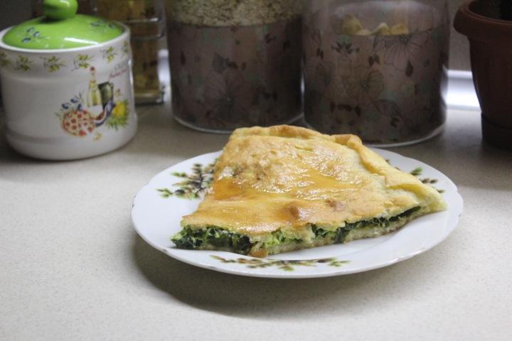 Чуду с зеленым луком (пирог)