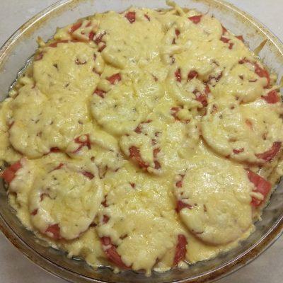 Полента с помидорами под сыром - рецепт с фото