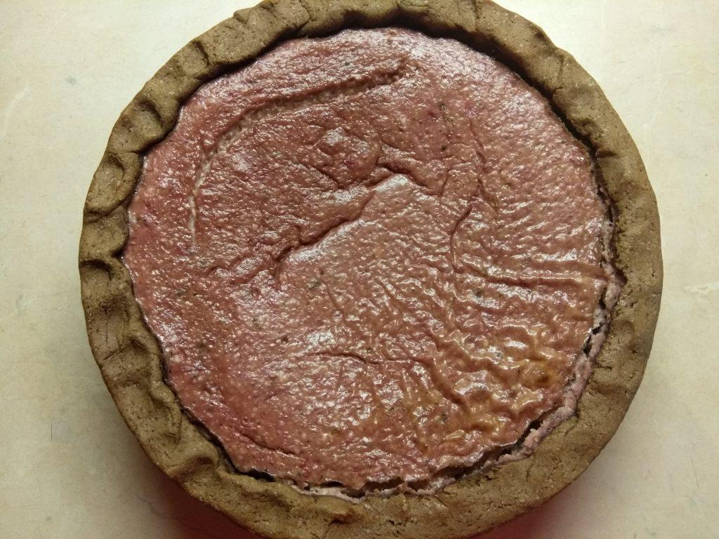 Фото рецепта - Открытый пирог с бананом и малиной - шаг 5