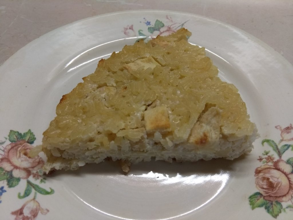 Фото рецепта - Рисовая запеканка на молоке с яблоками - шаг 8