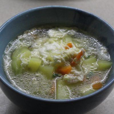 Яичный суп на скорую руку - рецепт с фото