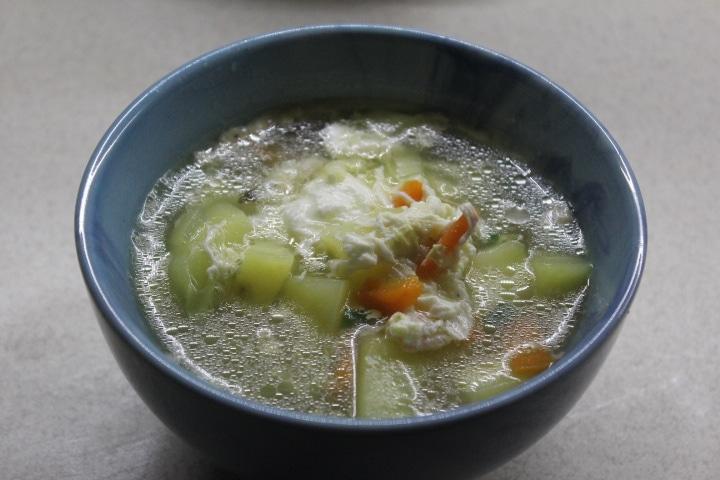 Яичный суп на скорую руку