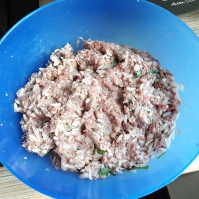 Фото рецепта - Фаршированный перец, запеченный в духовке (половинки) - шаг 4