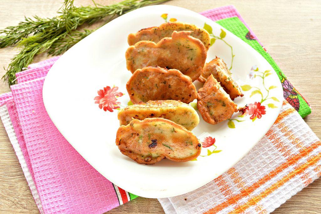 Фото рецепта - Горбуша в кляре с зеленью - шаг 7