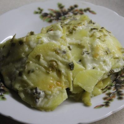 Картофельный эскалоп с грибами (гратен) - рецепт с фото