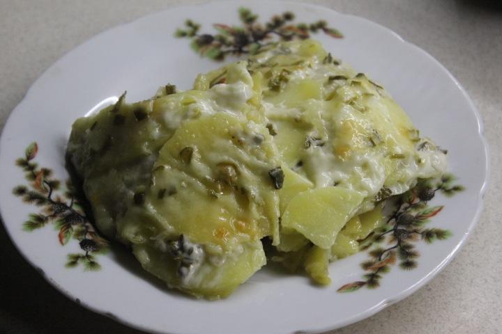 Картофельный эскалоп с грибами (гратен)