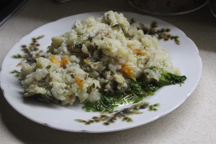 Фото рецепта - Рис с овощами и курицей в духовке (в горшочке) - шаг 7