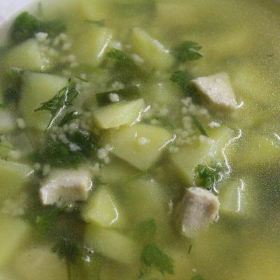 Нежный сливочный суп с кускусом и грудкой - рецепт с фото