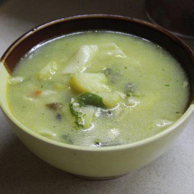 Куриный суп с макаронами и плавленным сыром - рецепт с фото