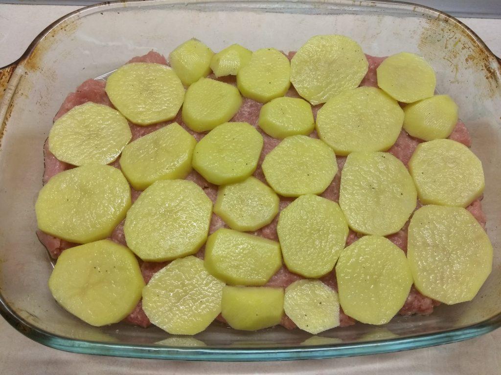 Фото рецепта - Запеканка овощная со свиным фаршем - шаг 3