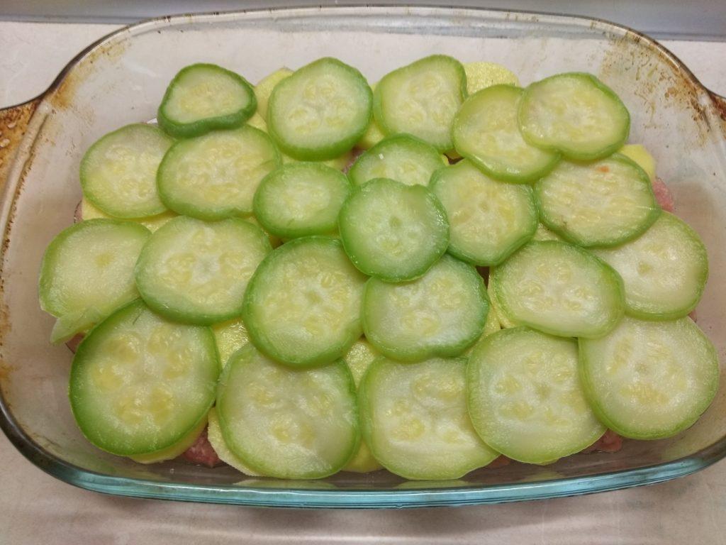 Фото рецепта - Запеканка овощная со свиным фаршем - шаг 4