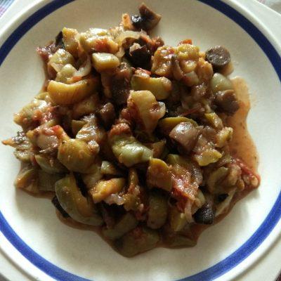 Постное рагу из кабачков и шампиньонов - рецепт с фото
