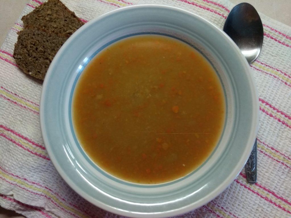 Фото рецепта - Суп-пюре из гороха с мясным фаршем - шаг 5