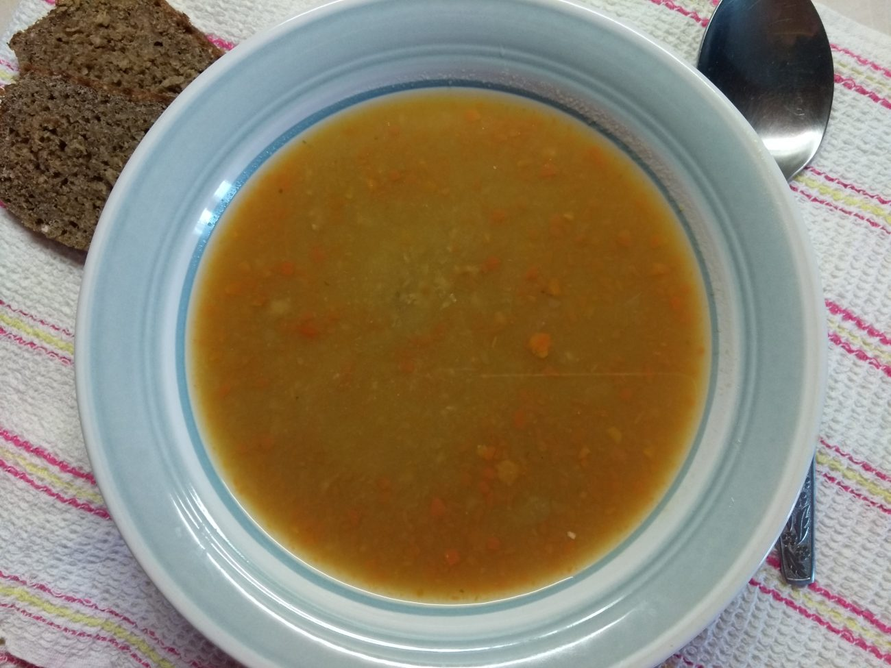 Суп-пюре из гороха с мясным фаршем