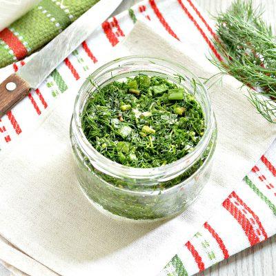 Зелень на зиму (2 способа) - рецепт с фото