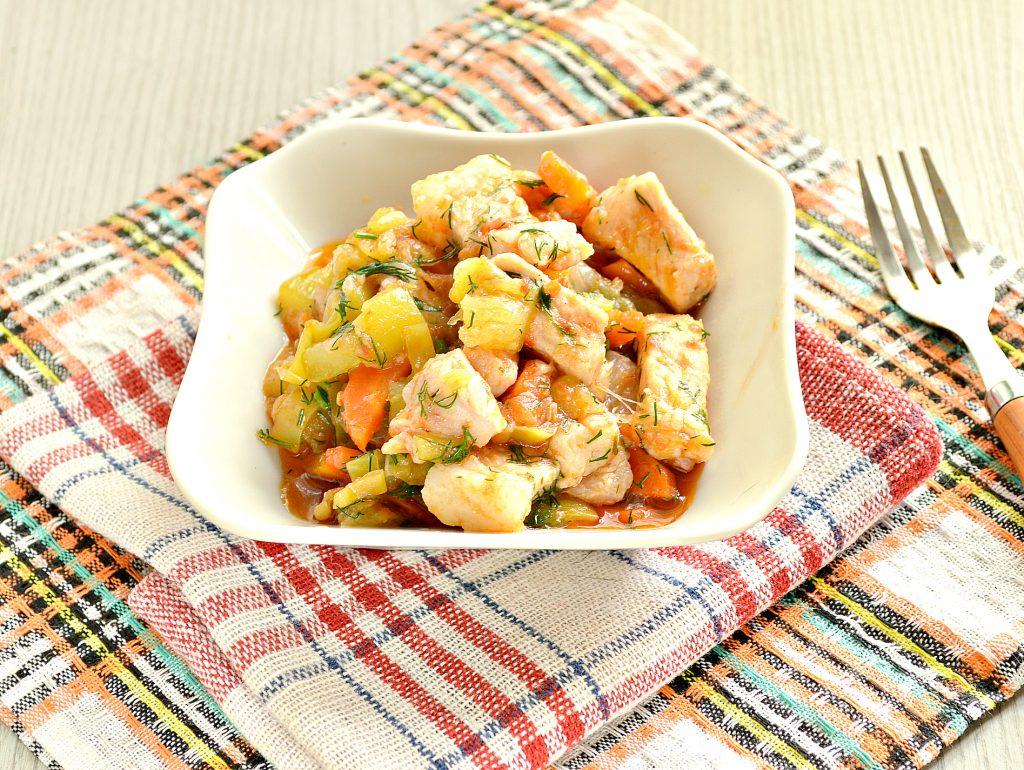 Фото рецепта - Овощное рагу со свининой - шаг 6