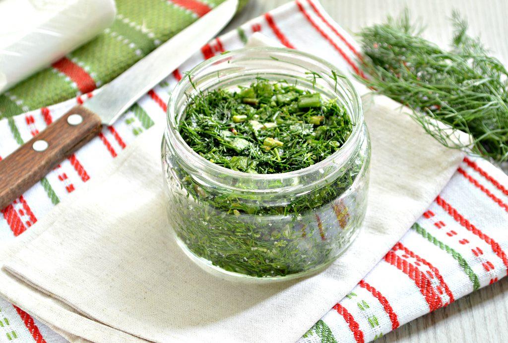 Фото рецепта - Зелень на зиму (2 способа) - шаг 6
