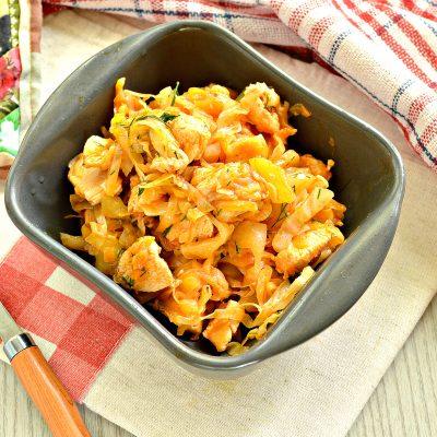Рагу из куриной грудки с кабачками и капустой - рецепт с фото