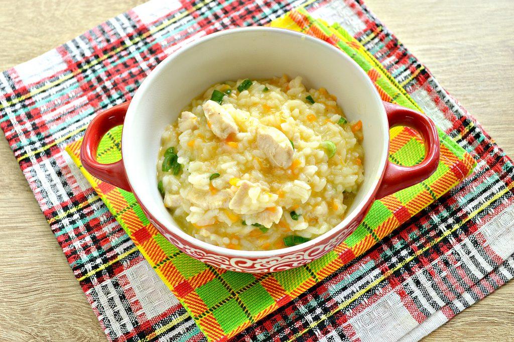 Фото рецепта - Рисовая каша с курицей - шаг 7