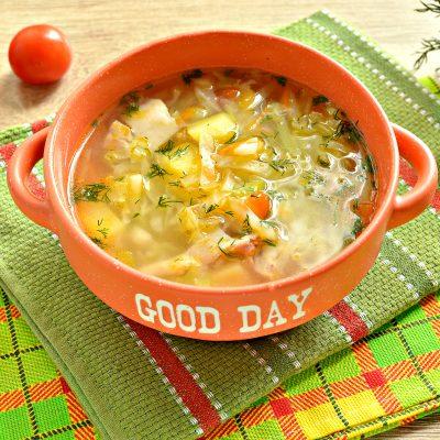 Овощной суп с молодой капустой и курицей - рецепт с фото