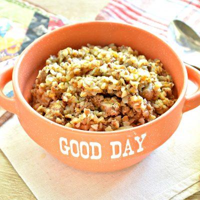 Куриная печень с гречкой и овощами - рецепт с фото