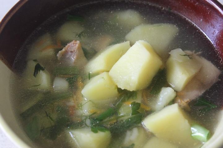 Фото рецепта - Суп с горбушей и пшеном - шаг 8
