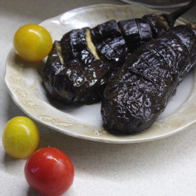 Запеченные баклажаны с маслом и соусом терияки - рецепт с фото