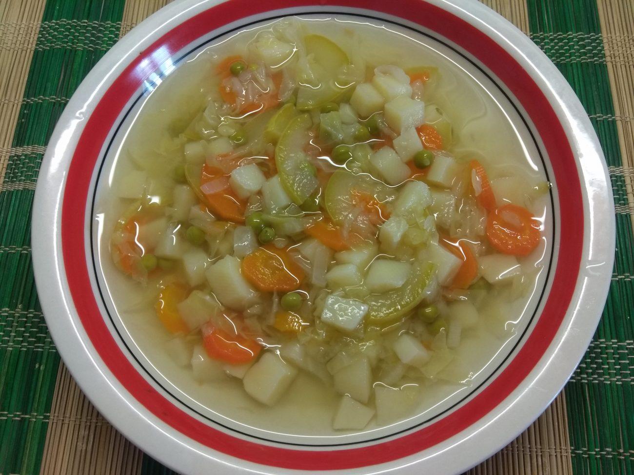 Овощной суп на сыворотке