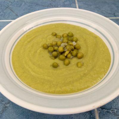 Постный крем-суп из зеленого горошка - рецепт с фото